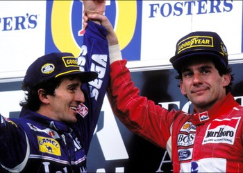 Senna and Prost Adelaide 1993